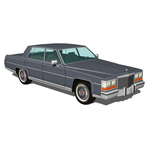 Cadillac Fleetwood 1980 3D Model - FormFonts 3D Models & Textures