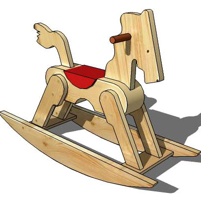 Description: wooden rocking horse
