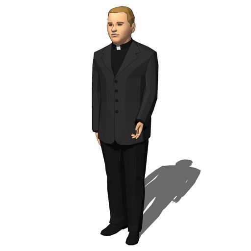Priests Set 1 3d Model Formfonts 3d Models Amp Textures