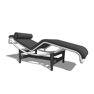 Lc4 3d model formfonts 3d models textures for Chaise longue le corbusier cad