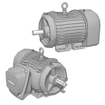 Elect Motor SD100 3D Model - FormFonts 3D Models & Textures