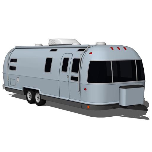 Airstream Trailer 3D Model - FormFonts 3D Models & Textures