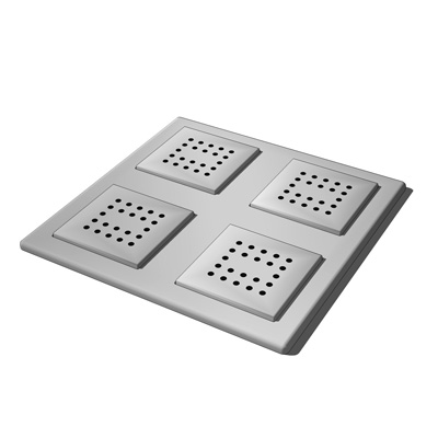 WaterTile Square rain overhead showering panel by ....
