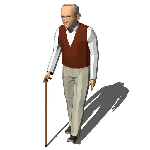 elderly man walking - photo #48
