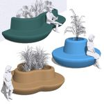 A set of three molded planter seats for any high t...