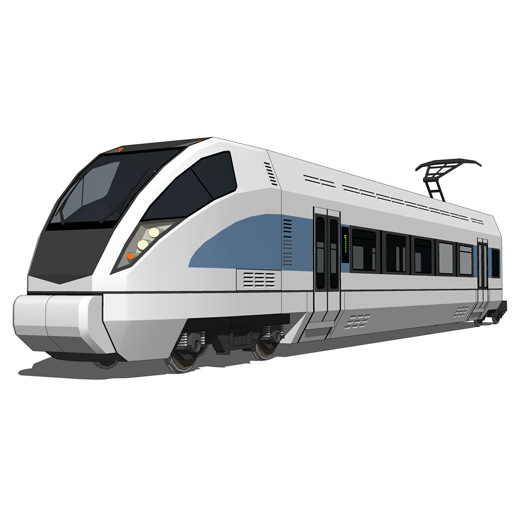 Generic Speed Train 3d Model Formfonts 3d Models Amp Textures