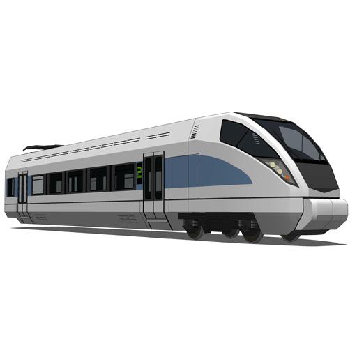 Generic Speed Train 3D Model - FormFonts 3D Models & Textures