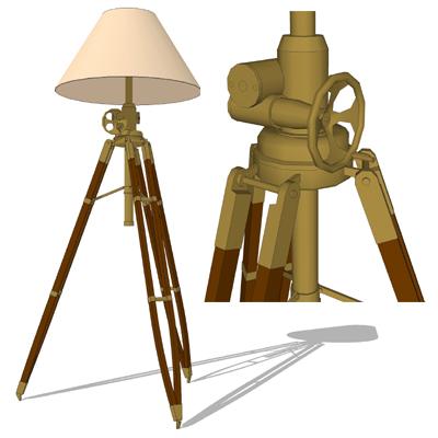 Royal Marine Tripod Floor Lamp 3D Model - FormFonts 3D Models & Textures