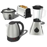 Modern kitchen appliances. Set includes an electri...