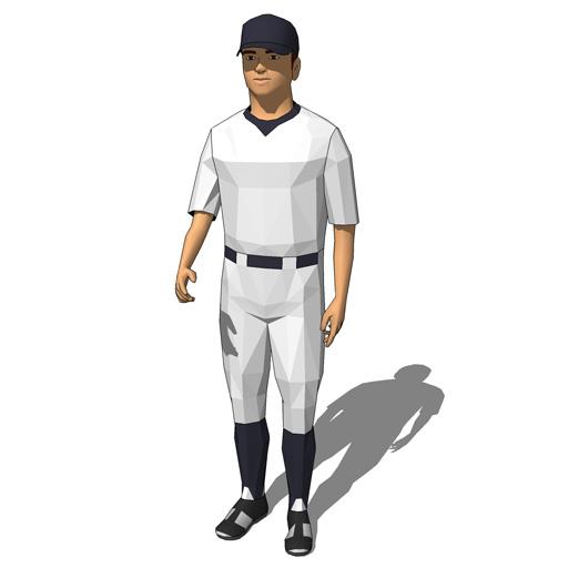 Baseball Players 10 3d Model Formfonts 3d Models Amp Textures