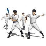 Four models of adult baseball 