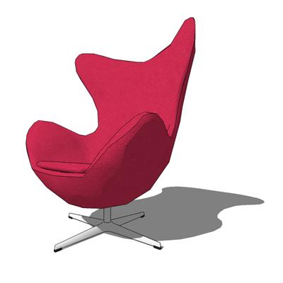 egg chair 3d model formfonts 3d models textures. Black Bedroom Furniture Sets. Home Design Ideas