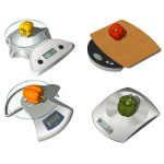 4 modern electronic platform scales for kitchen de...