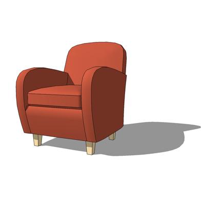 Havana Chair 3D Model FormFonts 3D Models Textures