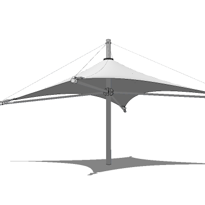 A selection of 4 tensile structures, from parasol ....
