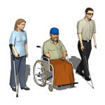 Three models of disabled people.