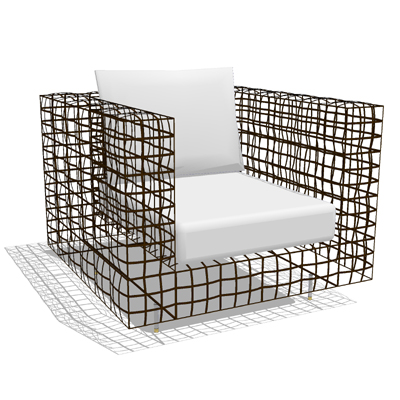 Kenneth Cobonpue Yin Yang Arm Chair 3d Model Formfonts