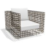A visually stunning geometric set of chairs, couch...