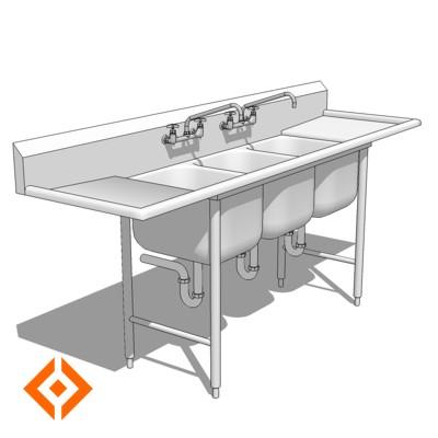 Comm Kitchen Sink 3D Model - FormFonts 3D Models & Textures