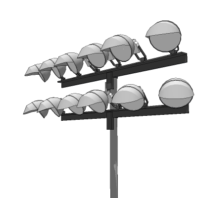 4 low-poly lighting configurations on 60' / 20m po....