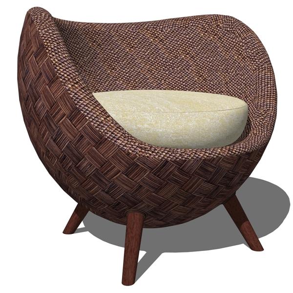 La Luna Arm Chair And Ottoman By Kenneth Cobonpue.