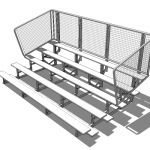 5 tier bleachers, from 15ft to 30ft (approx 5m - 1...