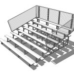 8 tier bleachers from 15 ft to 30ft (approx 5m -10...