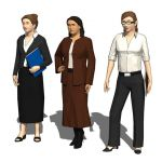 Three female executives.