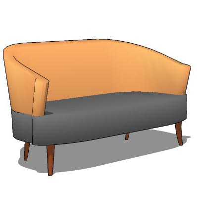 Two tone full leather sofa.