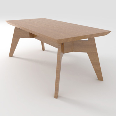 Span dining table 3d model formfonts 3d models textures for Table 3d model