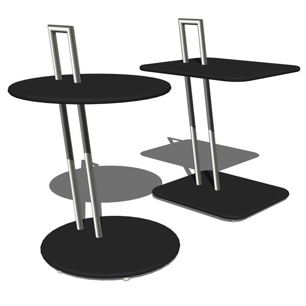eileen gray occasional tables 3d model formfonts 3d models textures