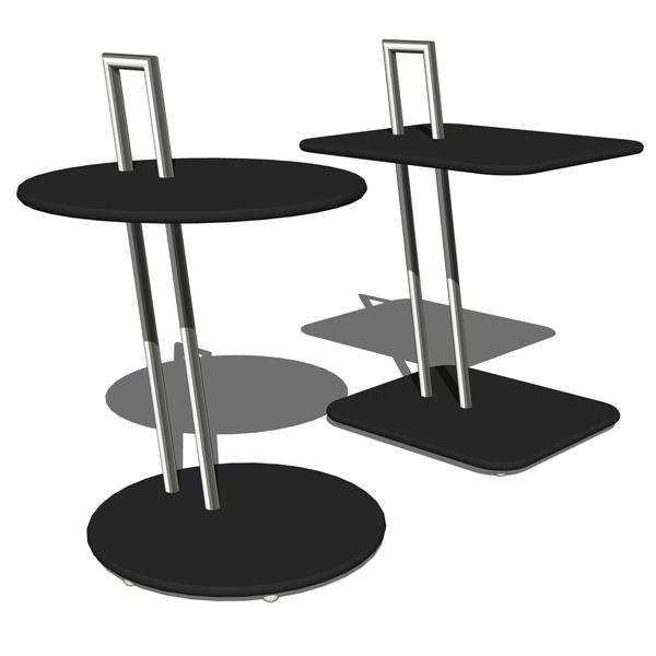 eileen gray occasional tables 3d model formfonts 3d models textures. Black Bedroom Furniture Sets. Home Design Ideas