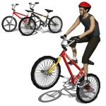 BMX generic bicycle set.