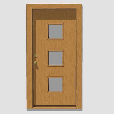 Pasadena doors 3d model formfonts 3d models textures for Front door models