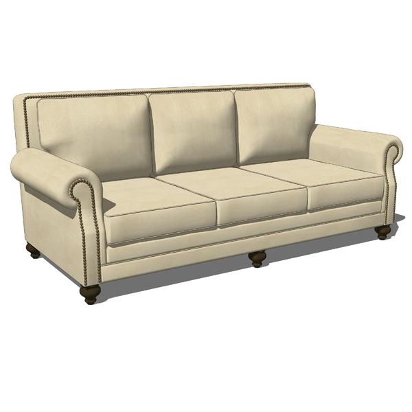Traditional Living Room Set 3d Model Formfonts 3d Models Amp Textures