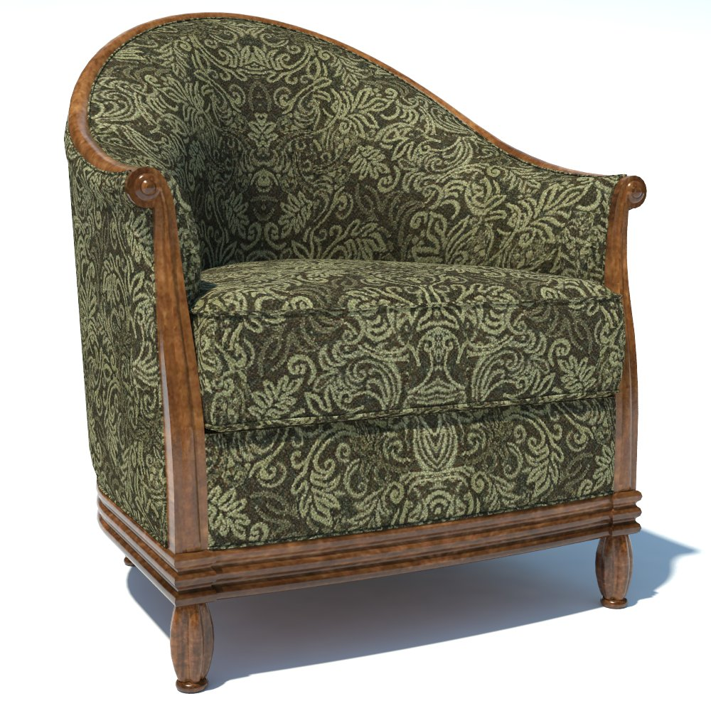 Traditional Armchair 02 3D Model - FormFonts 3D Models ...
