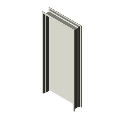 Metal Frame Metal Door Blank Hardware Hager Companies 3D Model ...
