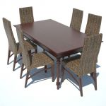 Traditional Dining Set 02 includes the Rattan Dini...