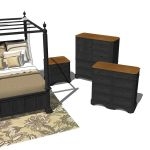 Traditional Bedroom Set 01 PART 2. Dressers and Ni...