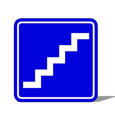 aiga stairs sign 3d model formfonts 3d models textures