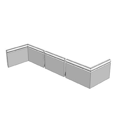 170mm high torus skirting board kit - 3 components....