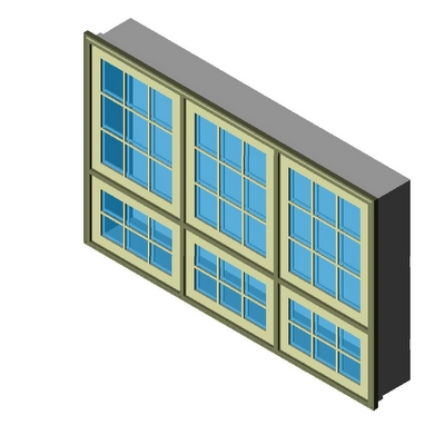 Window Push Out Awning Combination 3wx2h Kolbe 3d Model