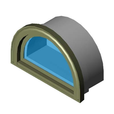 Window casement half circle direct set kolbe 3d model for Window object