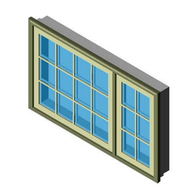 Window Casement Picture Combination Flanker Right Kolbe 3d