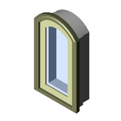 Window casement segment head 1 wide kolbe 3d model for Window object