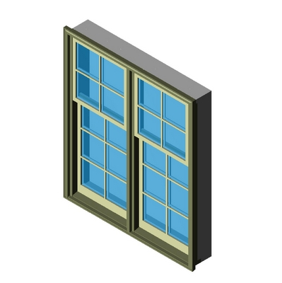 Window double hung 2 wide cottage sterling kolbe 3d model for Window object