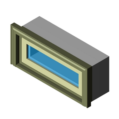 Window inswing rectangular transom kolbe 3d model for Window object