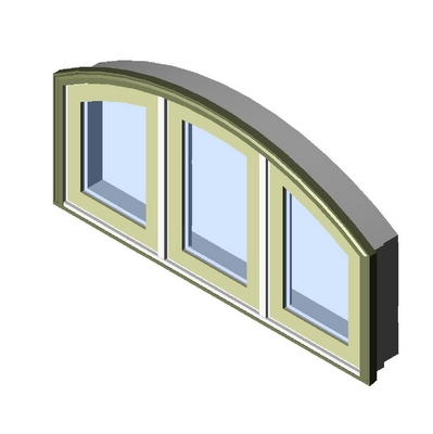Window push out casement segment head 3 wide kolbe 3d for Window object