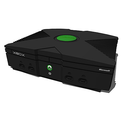 Microsoft XBOX Videogame Console. Highly detailed,....