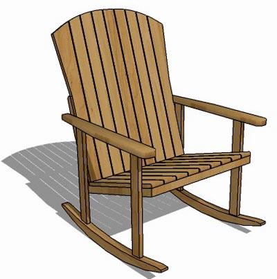 Tremendous Porch Rocker 3D Model Formfonts 3D Models Textures Andrewgaddart Wooden Chair Designs For Living Room Andrewgaddartcom